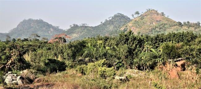 A panoramic mountain view- Man area