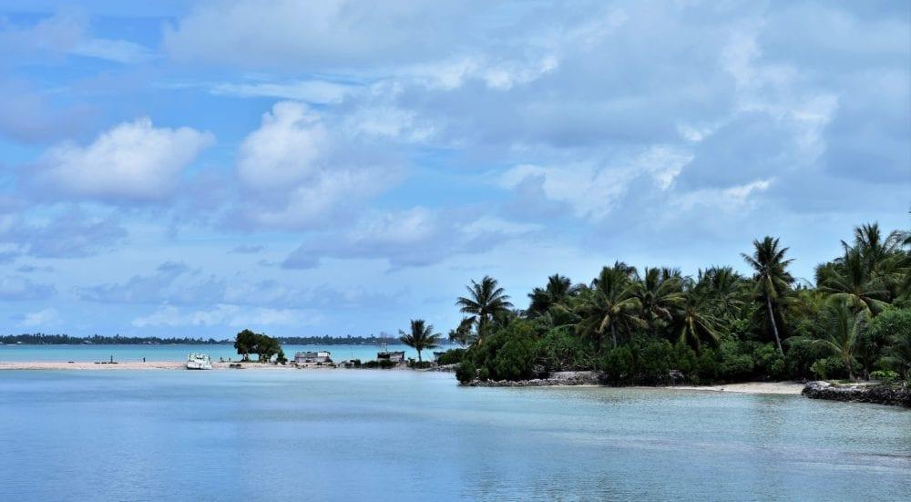 A view across the lagoon at South Tarawa