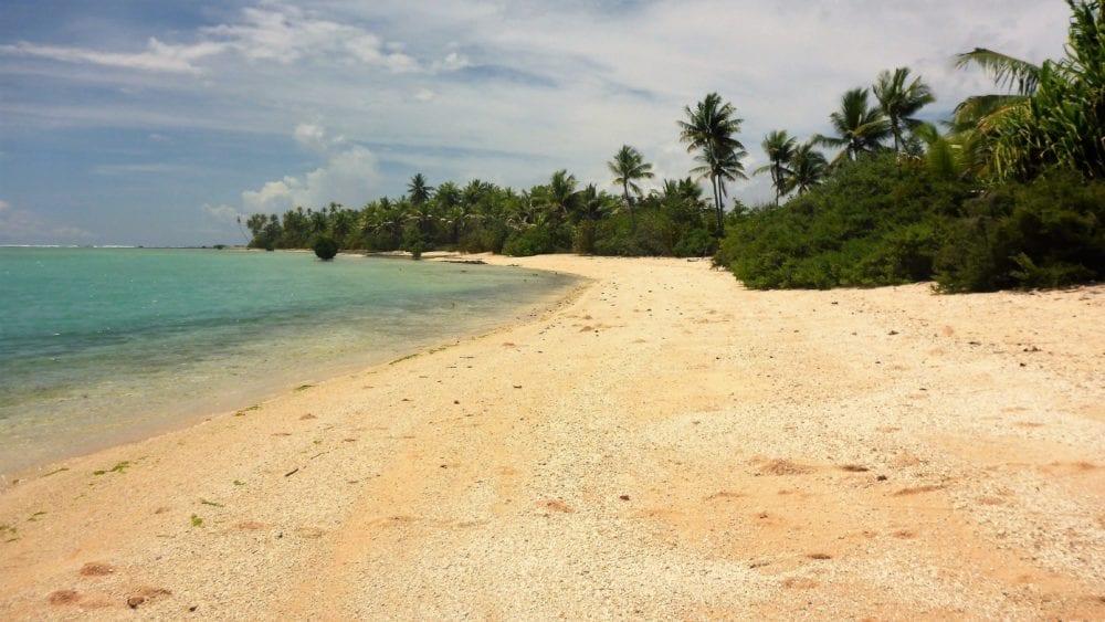 The beach on South Tarawa Lagoon Kiribati