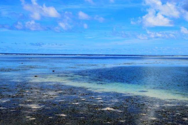 Blue lagoon shallows at Kosrae