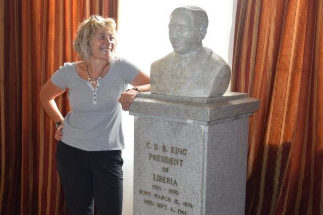 Sue in the Centennial Pavilion