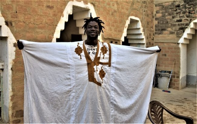 Guide Ibrahaim with cornrows and kaftan, Mali