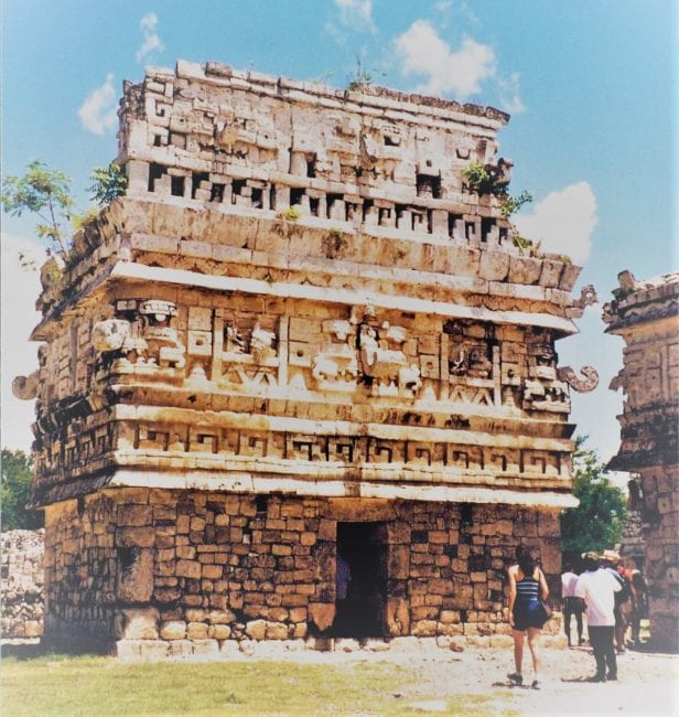Carved Mayan building at Chichen Itza, Mexico