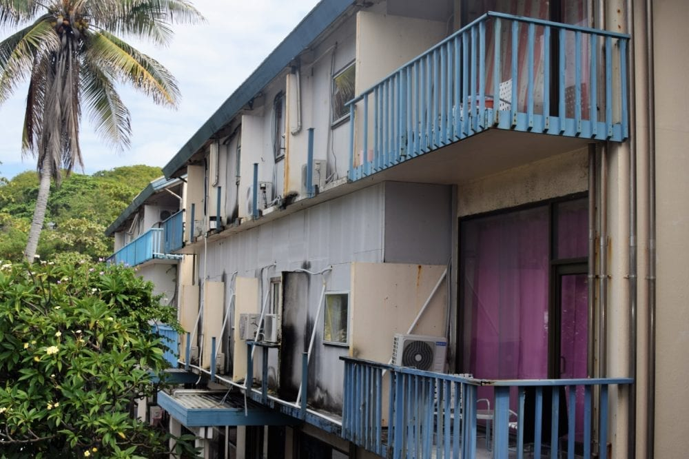 A view of my hotel in Nauru