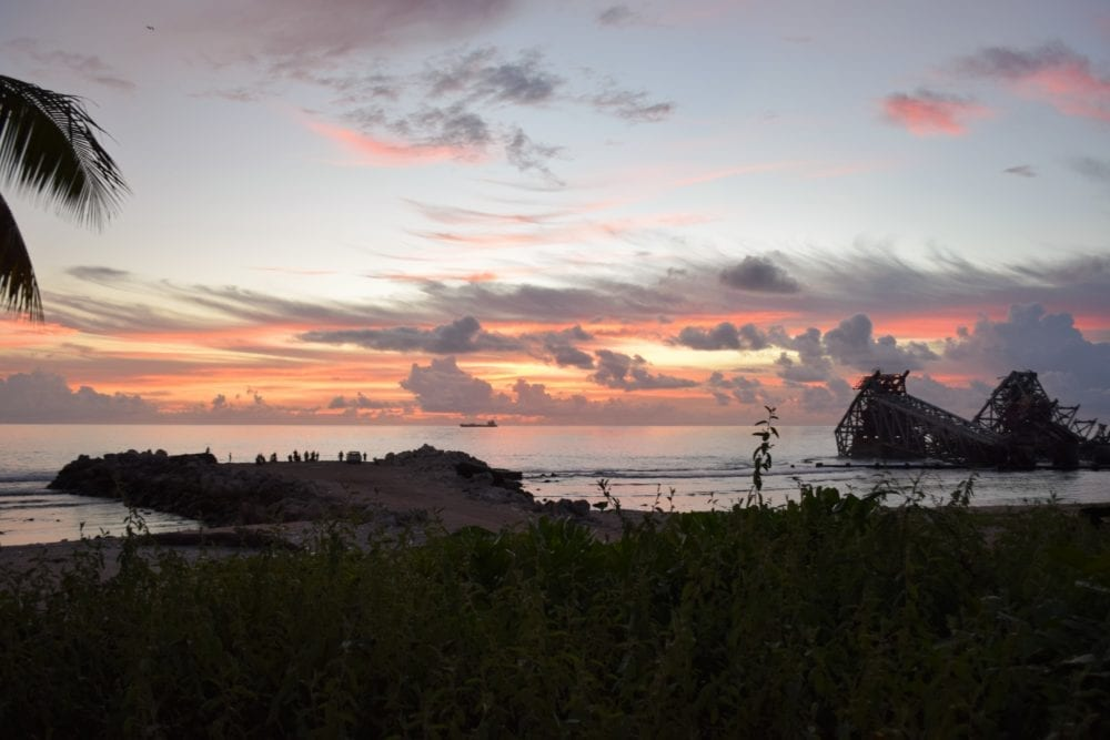 Sunset over the mine workings at Nauru