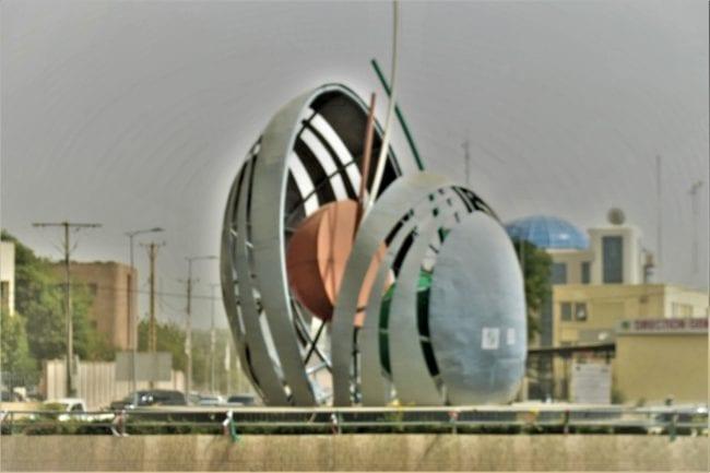 A modernist sculpture in Niamey