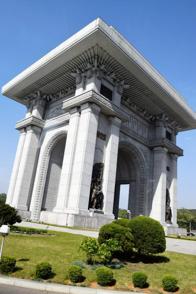 The Triumphal Arch in Pyongyang
