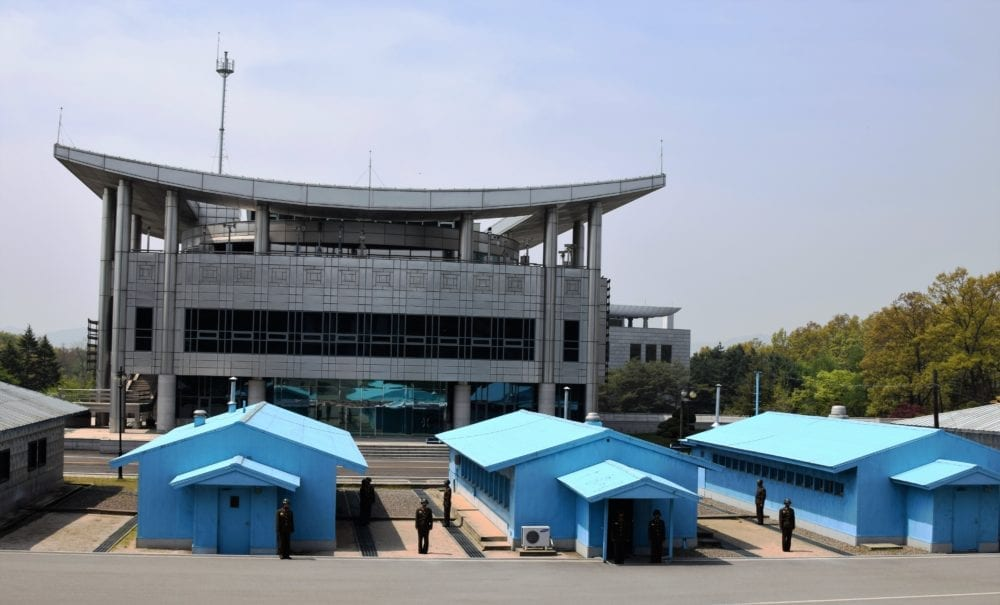 The army post at the DMZ North Korea