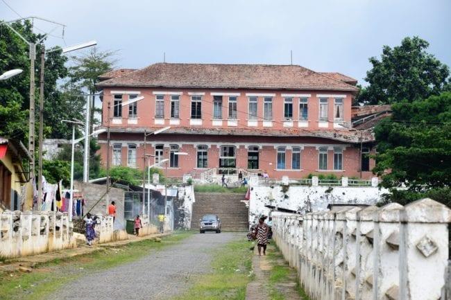The hospital at Roca Agostinho Neto São Tomé