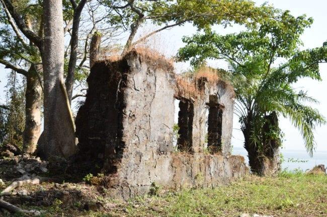 The ruins at Bunce Island Sierra Leone