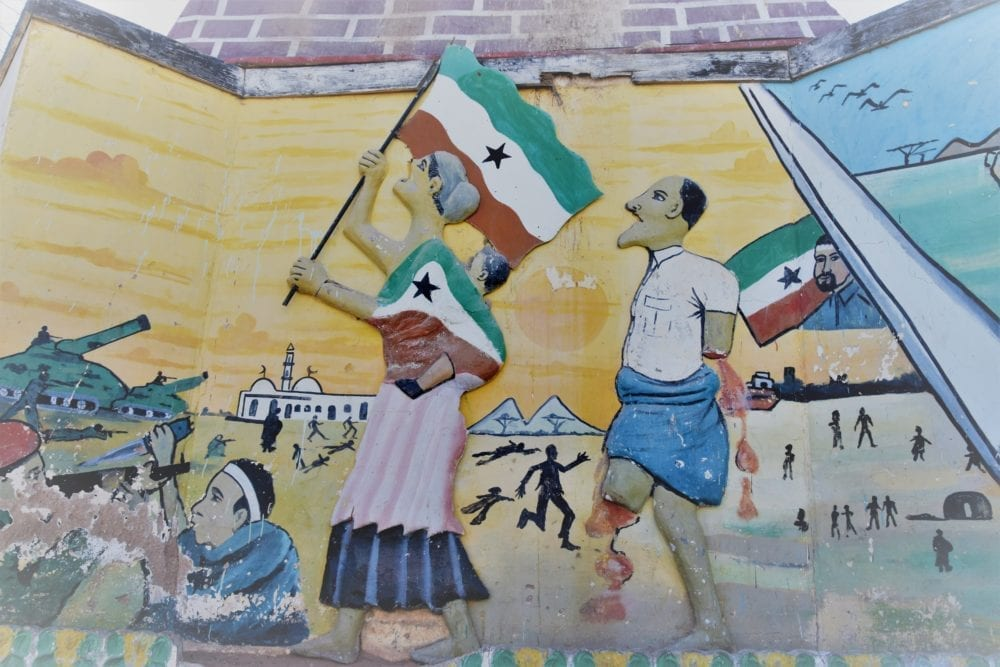 Murals depicting the war of Independence in Somalialnd