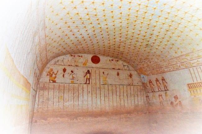 Fabulous tomb paintings at El Kurro, Sudan