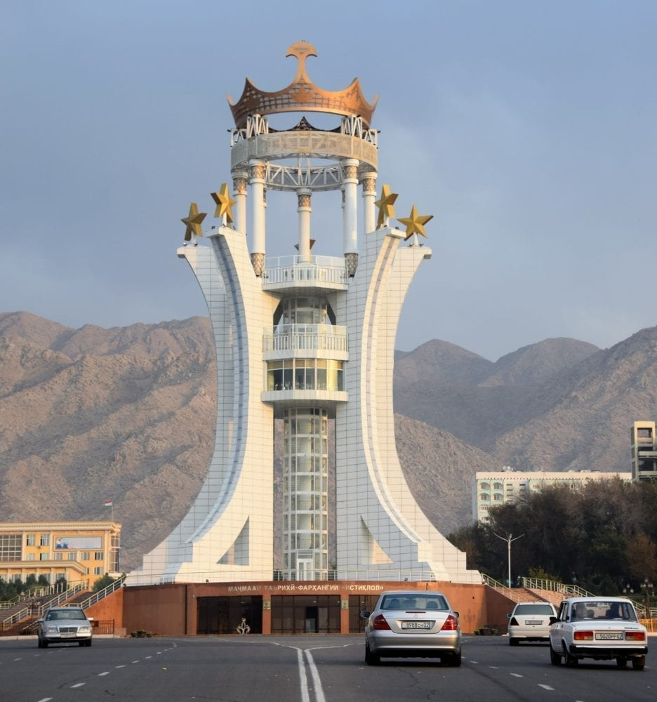 The Independence Monument in Khujand