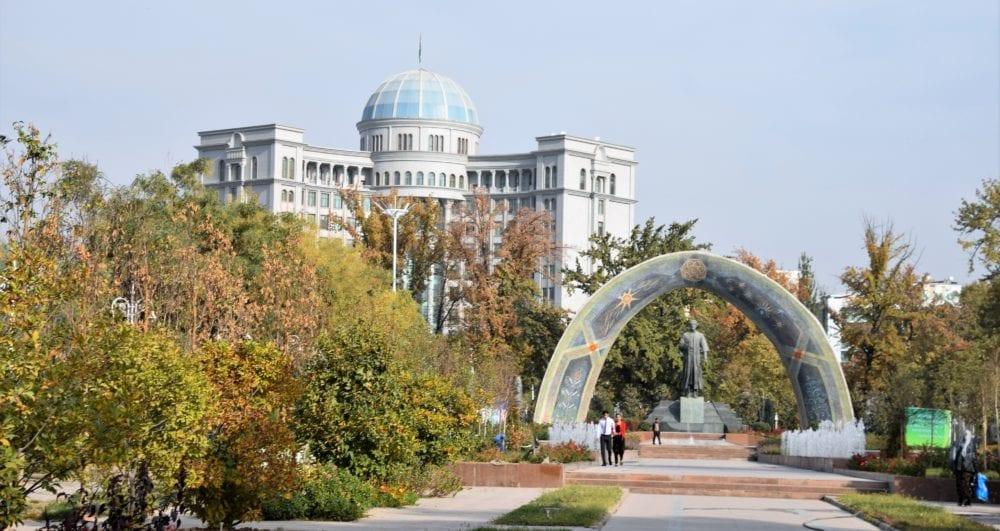 Rudaki monument Dushanbe Tajikistan