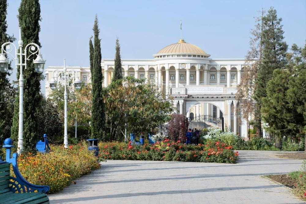 The Presidential Palace in Dushanbe Tajikistan