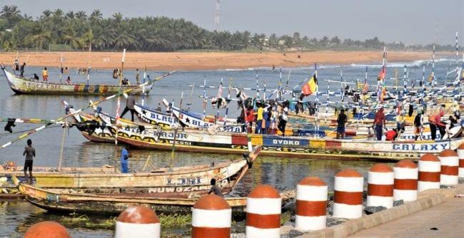 Fishing boats on Lake Togo