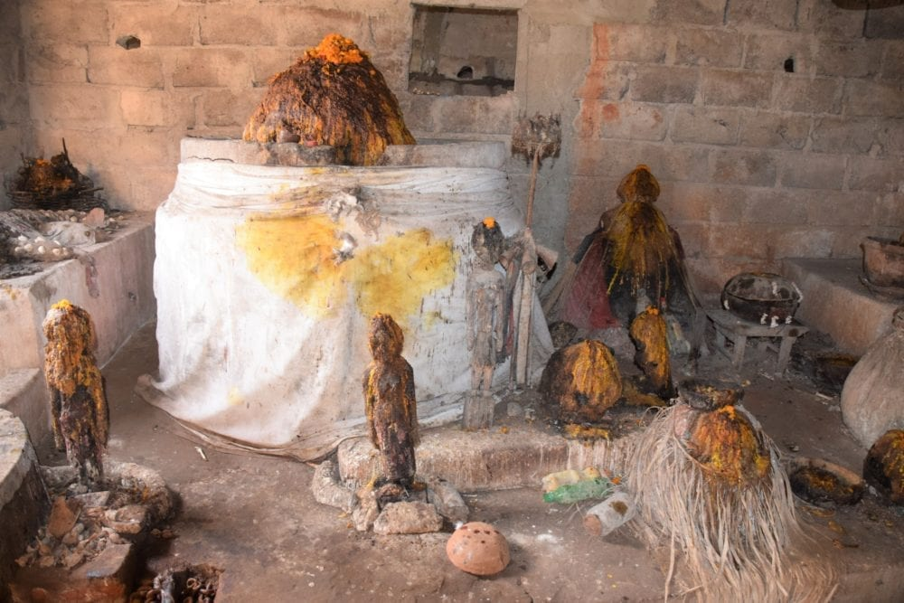 A voodoo shrine in Togo