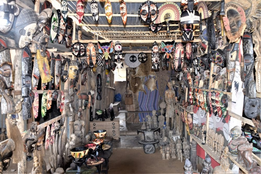 A shop in the fetish market at Lomé