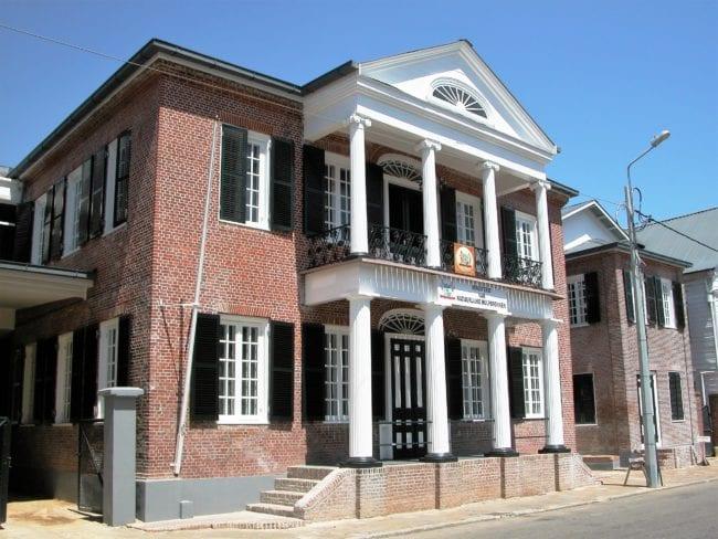 Colonial building in Paramaribo Suriname
