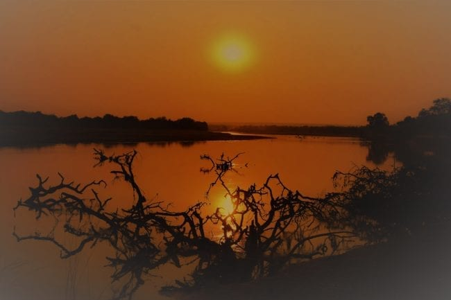 Sunset over the river, South Luangwa