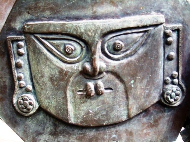 A sculpture at Pisaq, Peru