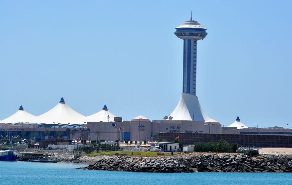 Abu Dhabi Marina Mall with its over 400 stores and the 100m tall Marina Mall Tower