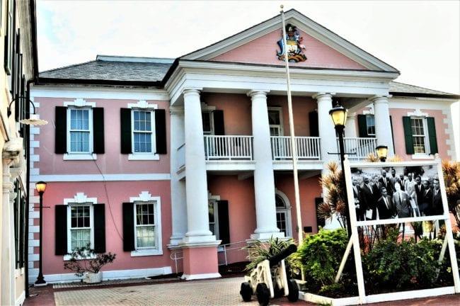 Bahamas - pink parliament building Nassau