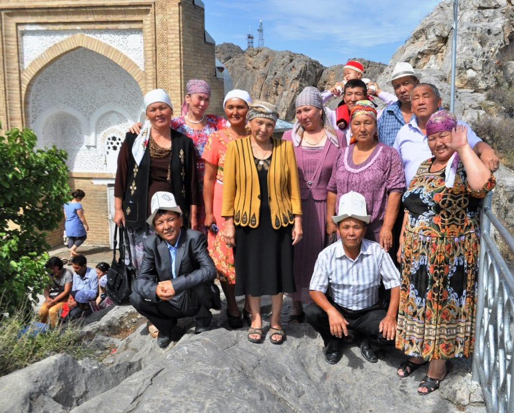 A Kyrgyz family at Solomon's Mountain, Osh