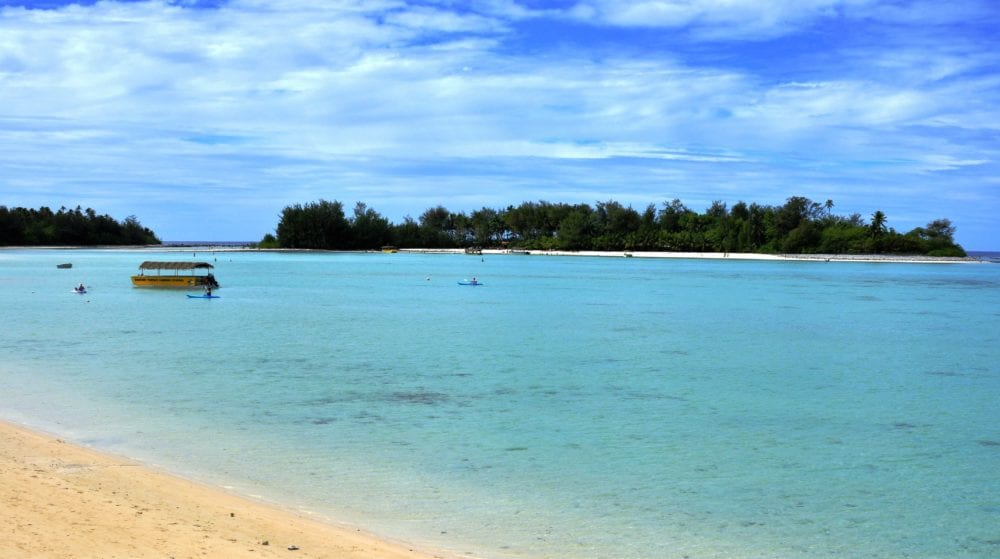 A view across the lagoon in Rarotonga