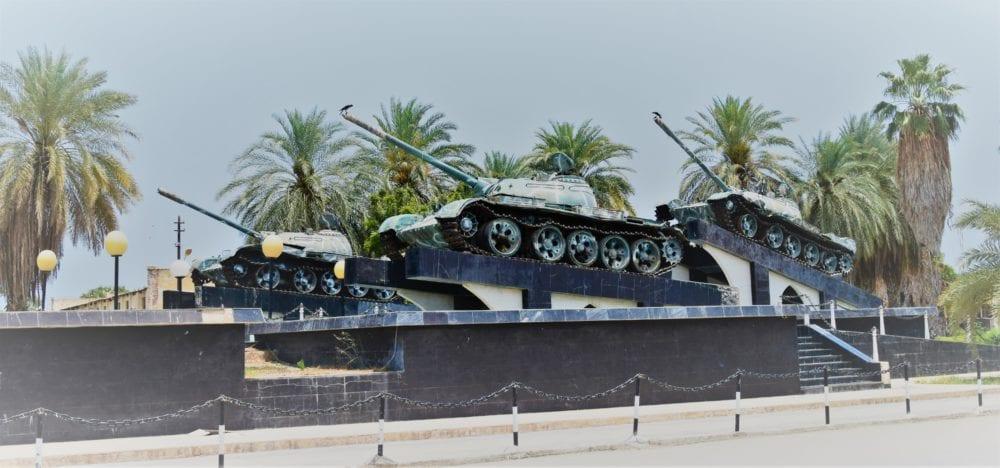 Three tanks on a pedestal in Massawa Eritrea