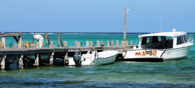 Matachica boats moored at the jetty