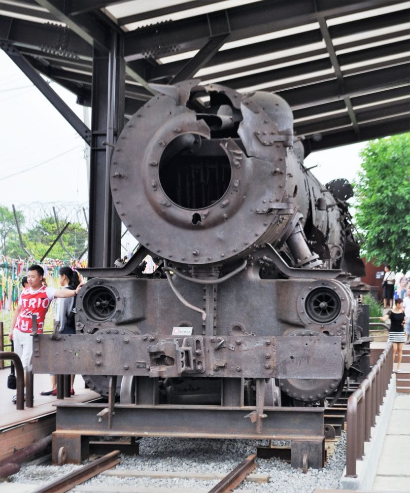 The rusty locomotive at the DMZ