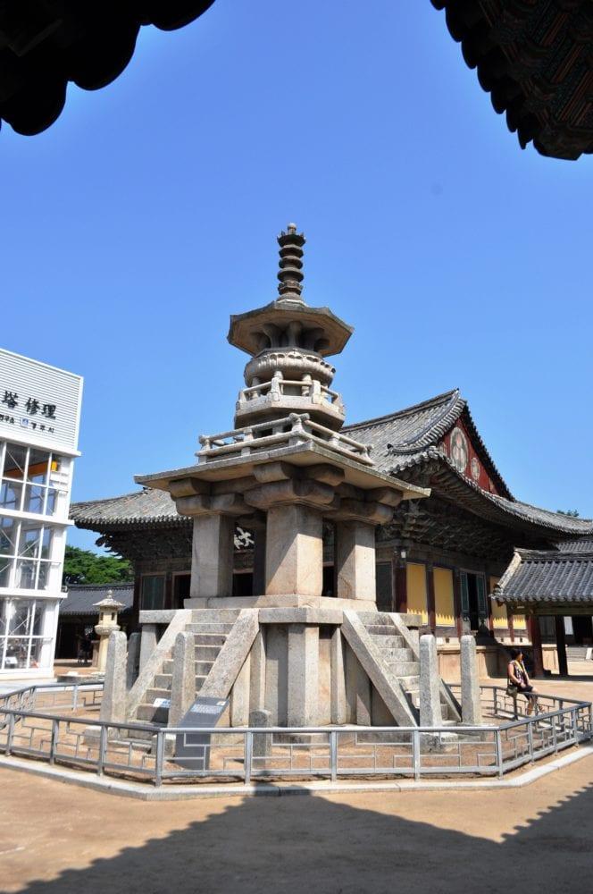 Temple buildings in Gyeongju South Korea