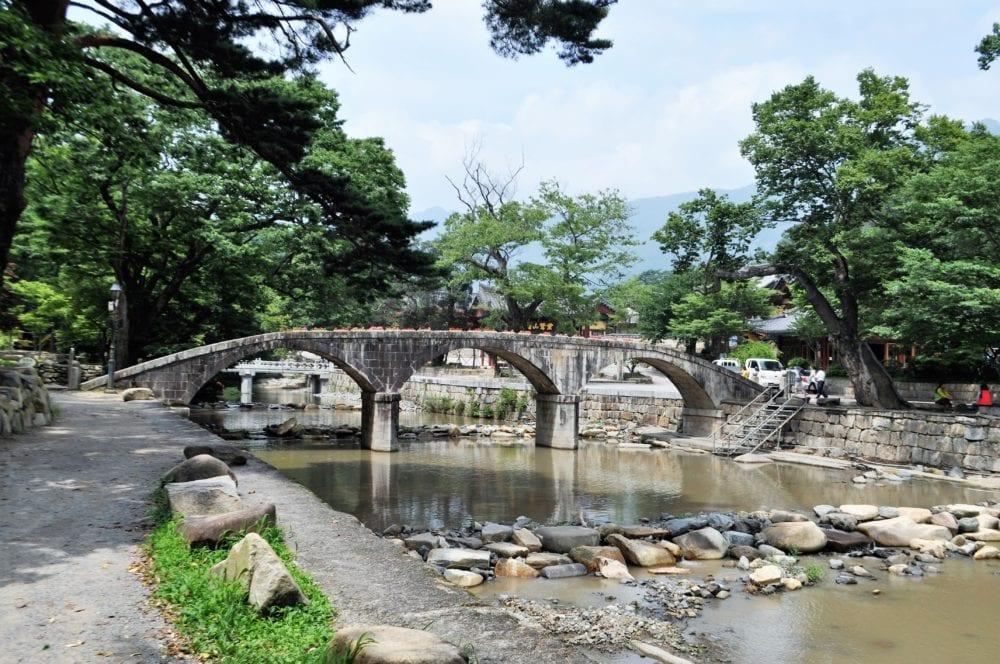 A beautiful arched stone bridge at Gyeongju