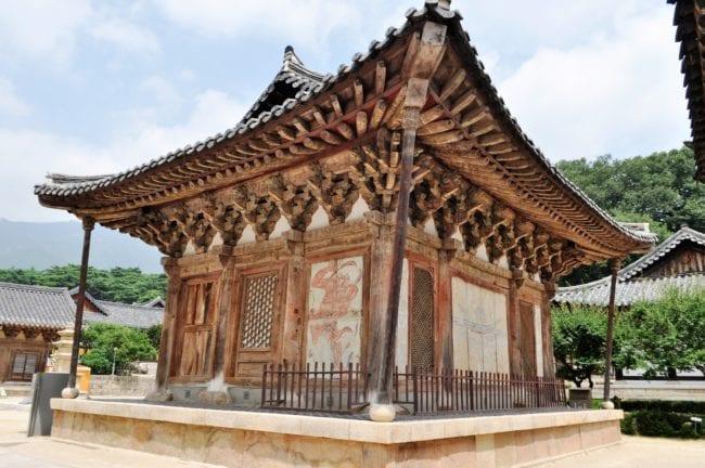 Temple buildings at Tongdosa, South Korea