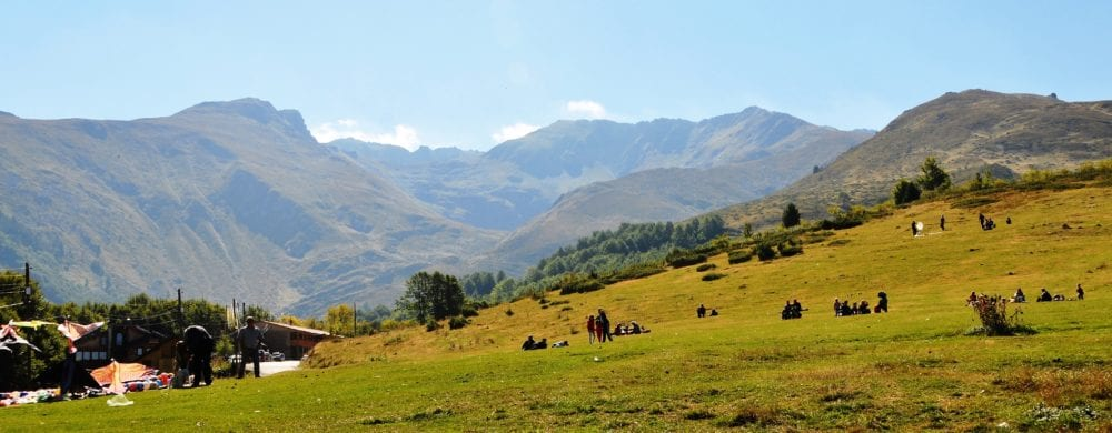 A panoramic mountain view in Kosovo