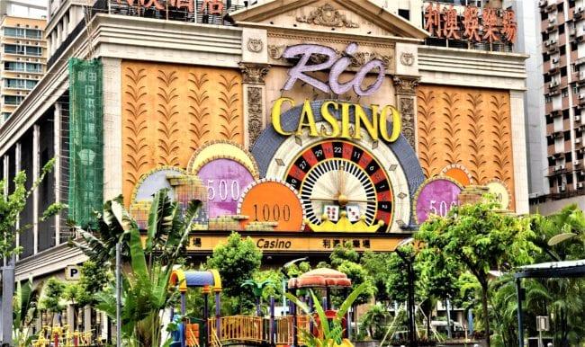 Gaudy casino building in Macau