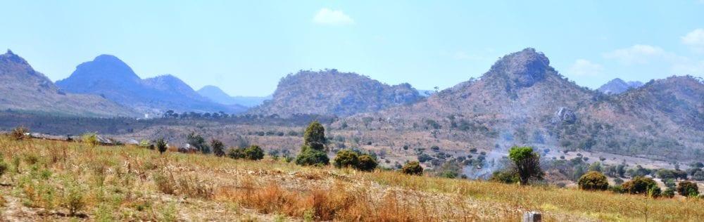 Pointy mountain peaks in Malawi