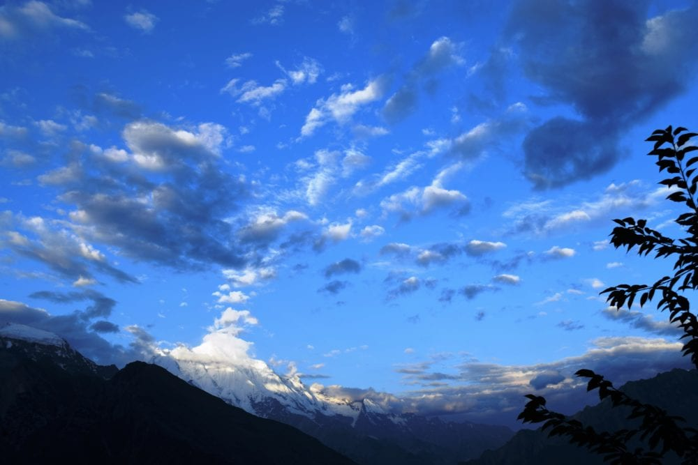 Cloud formations above the Hunza Valley