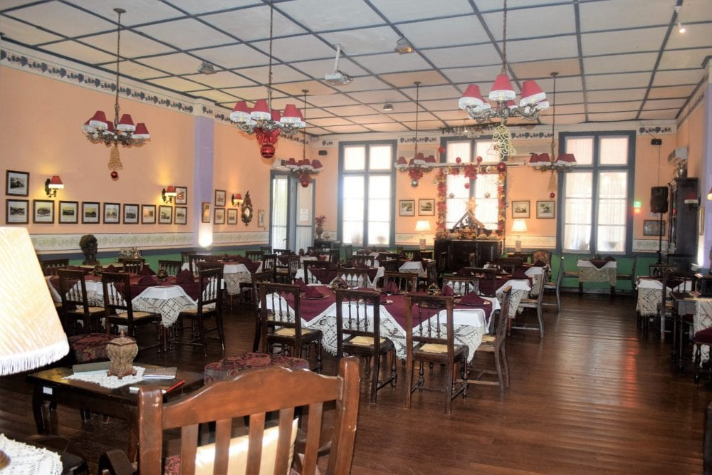 The dining room at The Hotel de Lago San Bernadino Paraguay