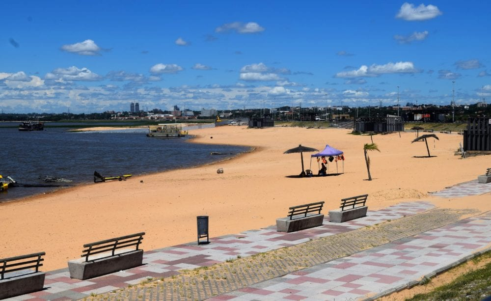The beach on the Paraguay River at Asuncion
