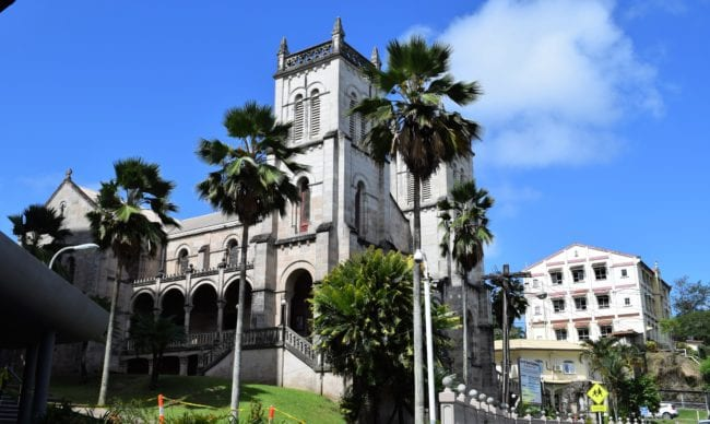 Suva Cathedral building , front and side view