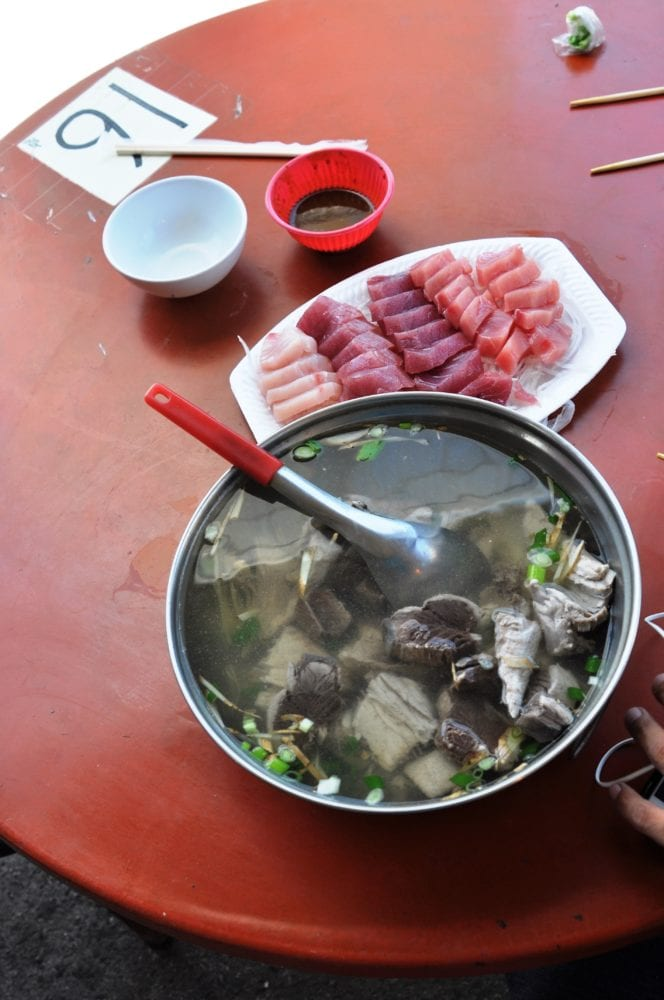 Fish stew and sashimi Taiwan