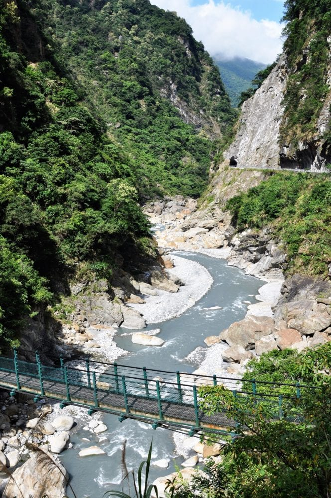 A view of Taroko Gorge from above, Taiwan
