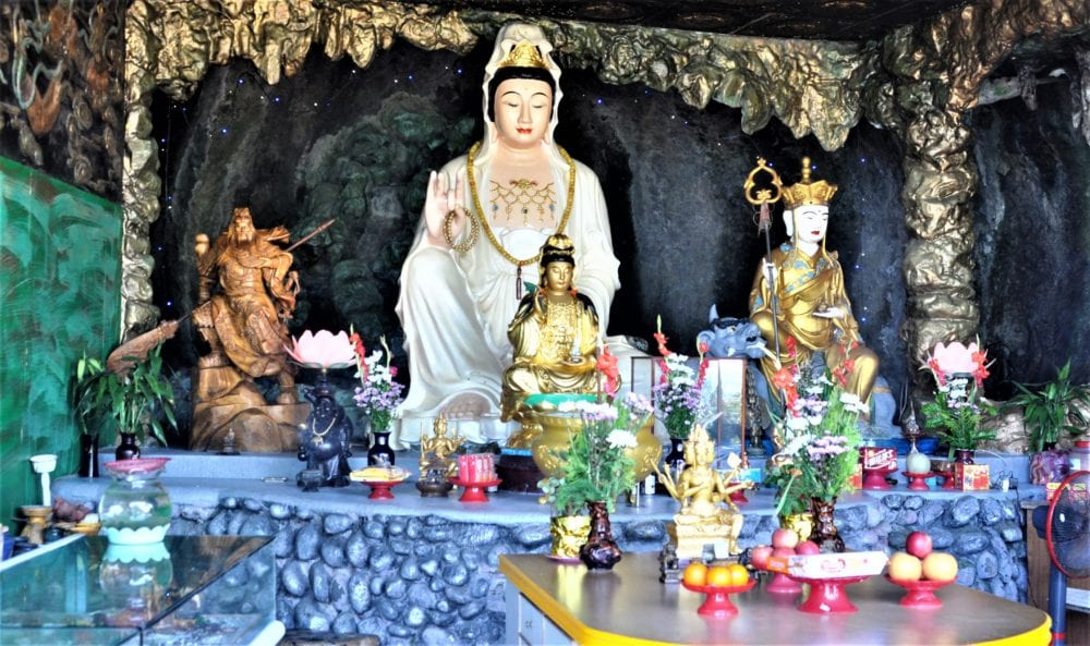 Tao statues in a cave shrine in Taiwan