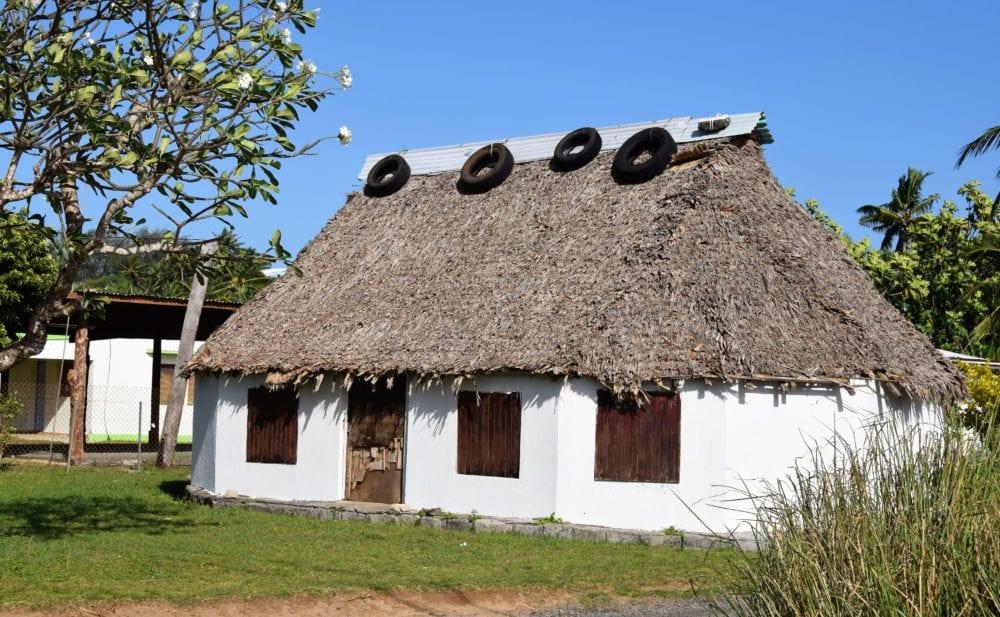 A thatched cottage on Wallis island, Wallis and Futuna