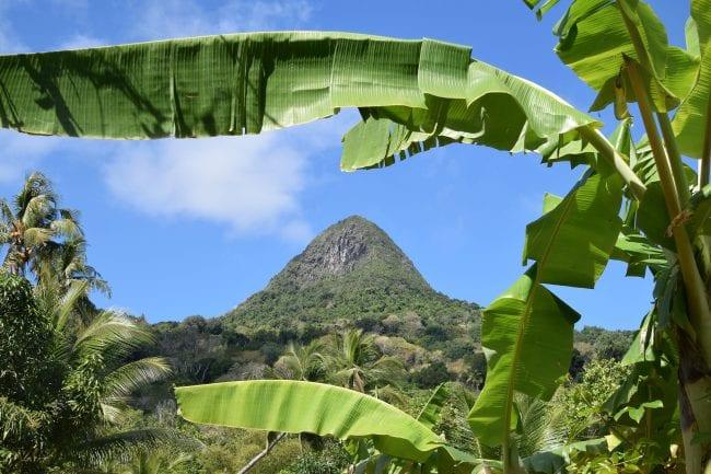 The pyramid peak at Mayotte
