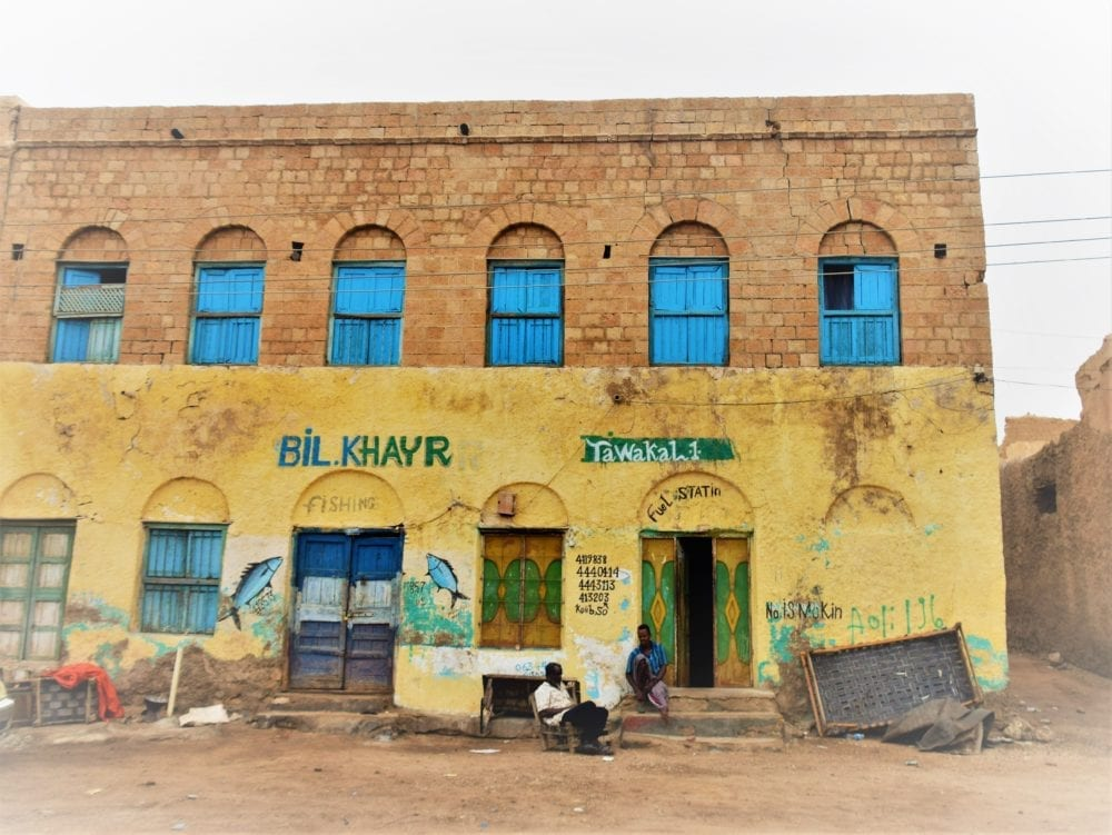 Painted shop fronts in Berbera