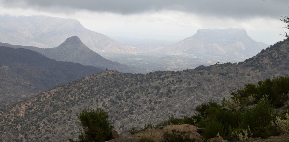 View across the mountains of Somaliland from Sheikh