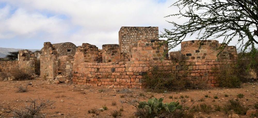 Ruins of the fort at Sheikh Somaliland